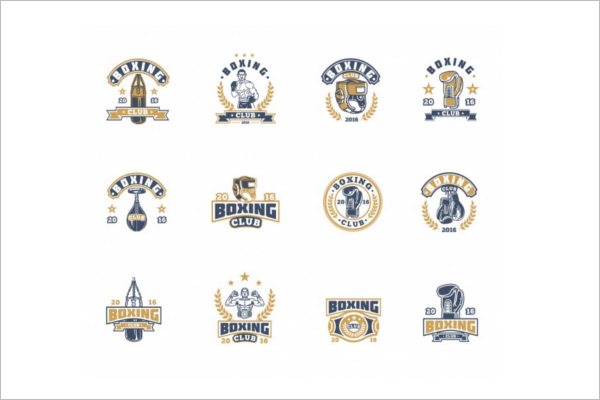 Free Boxing Badges Template