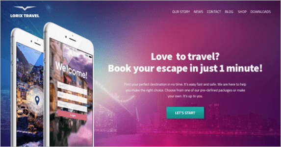 Free Download Landing Page Theme