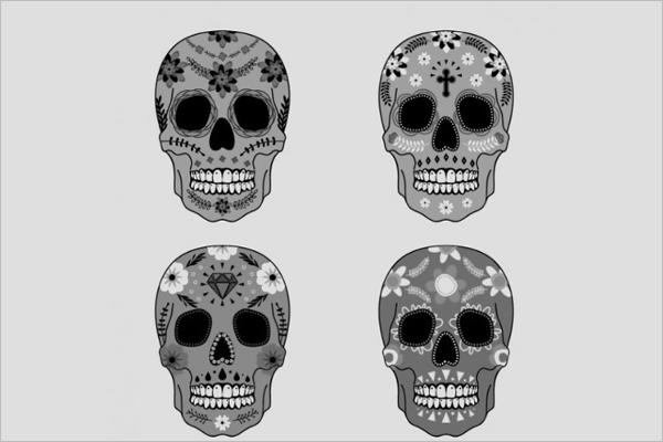 Free Human skull Vector Design