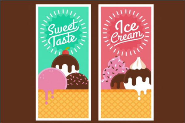 Free Ice Cream Banner Design