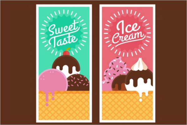 Free Ice Cream Banner Design