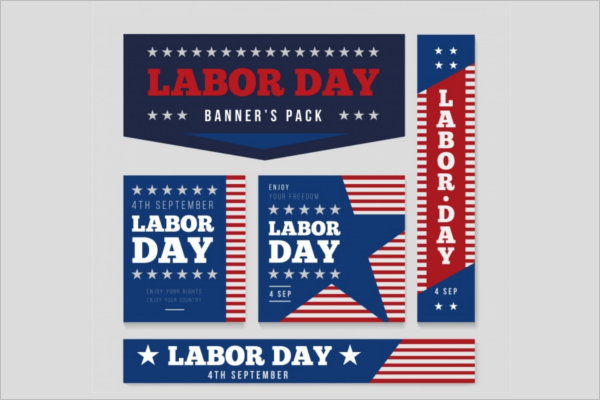 Free Labor Day Banner Template
