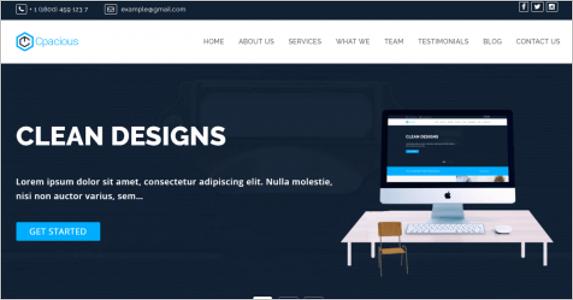 Free Online Landing Page Theme