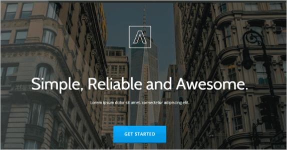 Free Reliable Landing Page Theme