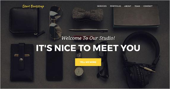 Free Stylish Bootstrap Landing Page Theme