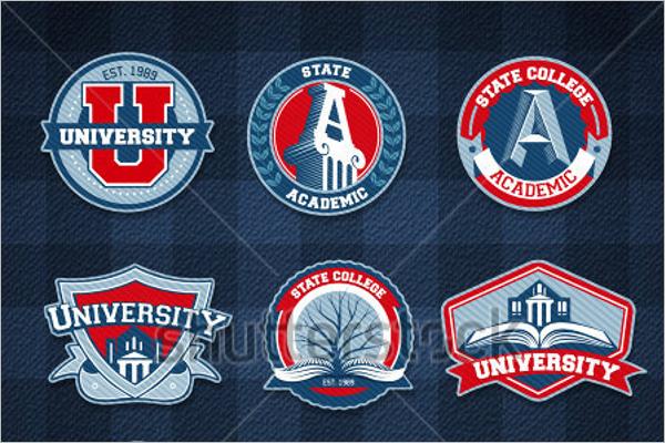 Free Vector School Badges Design