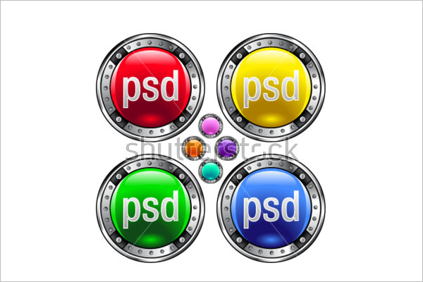 Free Web Button PSD Template