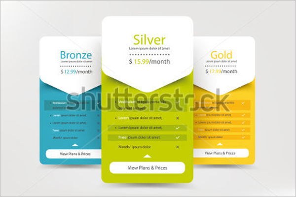 Free Website Pricing Table Template