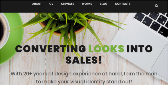 Freelance Designer WordPress Theme