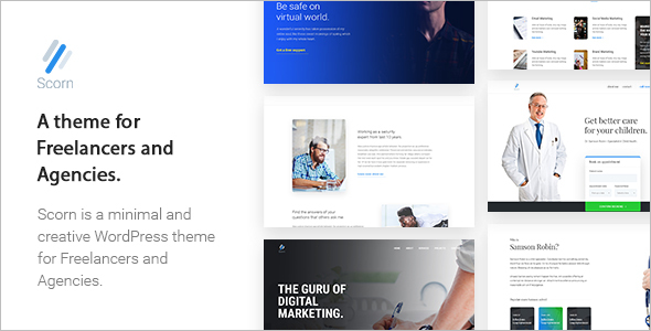 Freelancers and Agencies WordPress Theme