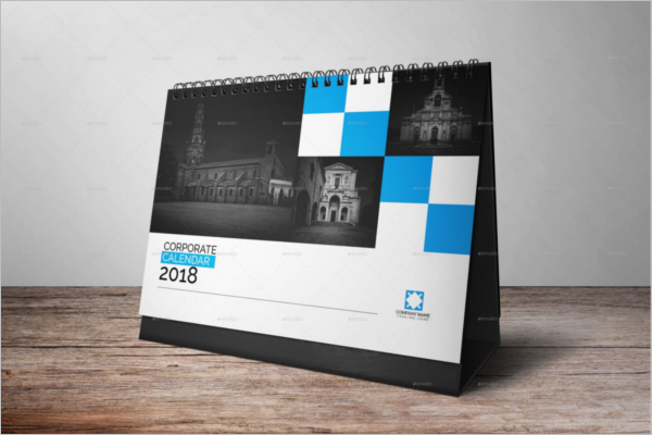Fully Editable Desk Calendar Template  Calendar Sample Design