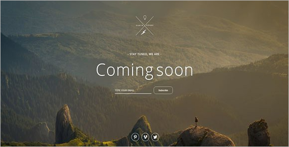 Fully Responsive Coming Soon HTML Template