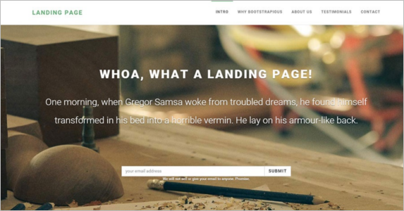 Fully Responsive Free Landing Page Theme