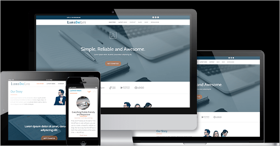 Fully Responsive Landing Page Theme