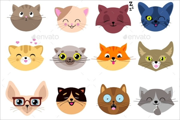 Fun Cartoon Cat Face Design