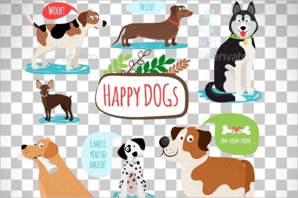 Funny Dog Cartoon Design