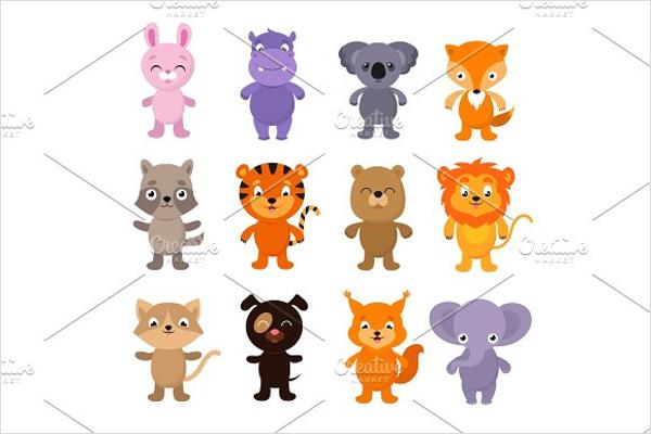 Funny cartoon Animals Designs