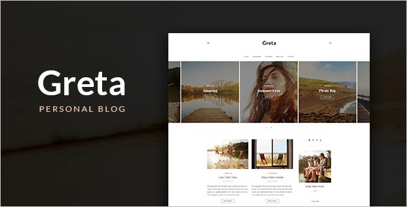Greta Blog HTML Template