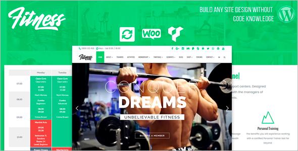 Health Fitness WordPress Theme