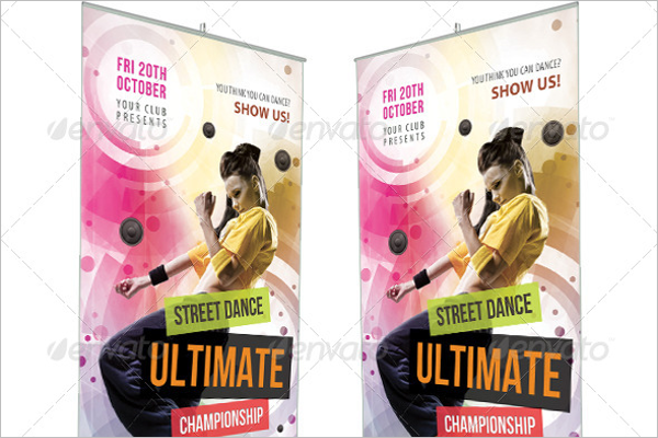 High Resolution Dance Banner Template