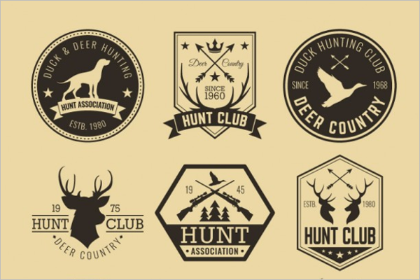 Hipster Hunting Badges Template