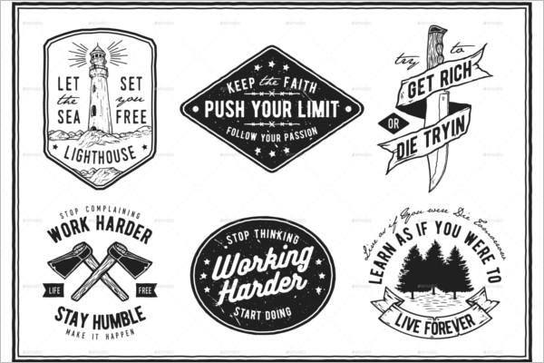Hipster Logo Photoshop Template