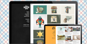 Hipster Portfolio WordPress Theme