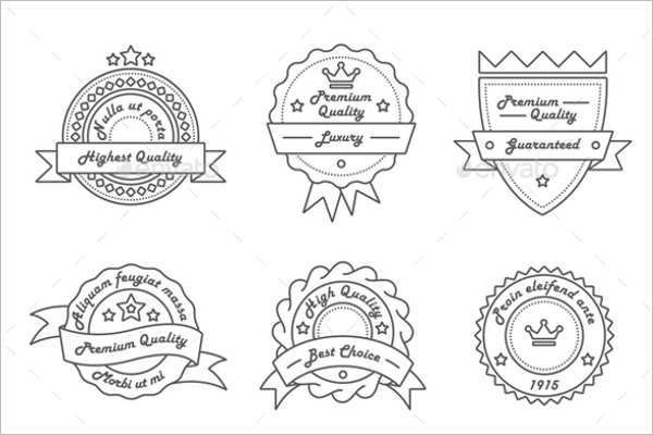Hipster Vintage Badge PSD Template