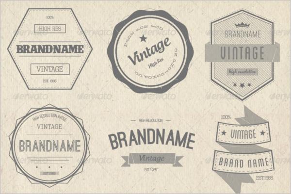 Hipster Vintage Badge Template
