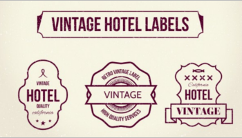 Hotel Vintage Labels Designs