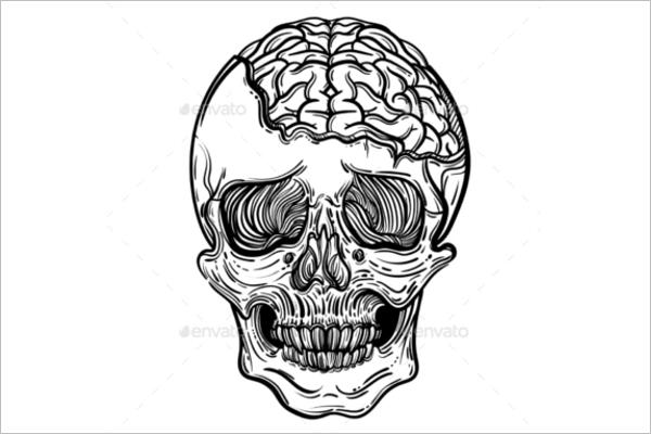 Human Brain Illustration Design