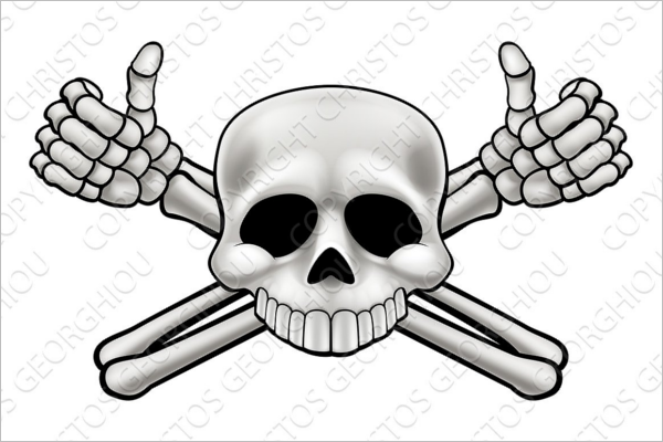 Human Skeleton Vector Design