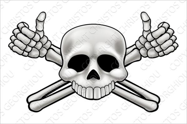 Human Skeleton Vector Design