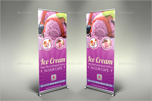Ice Cream Banner PSD Template