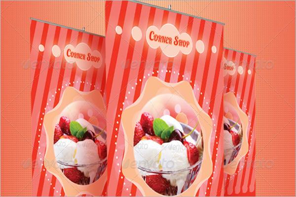 Ice Cream Store Banner Template
