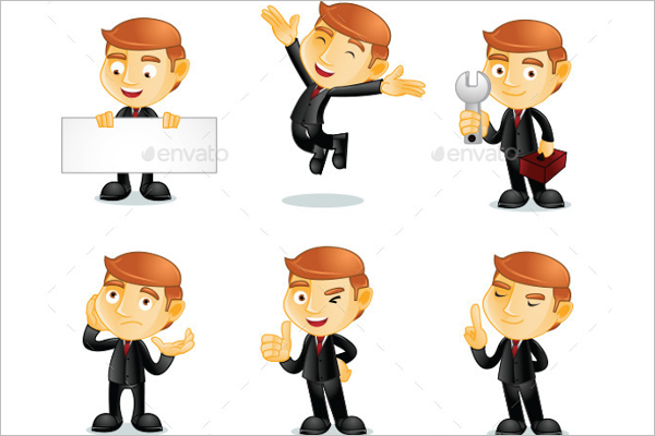 Illustration Businessman Character Vector