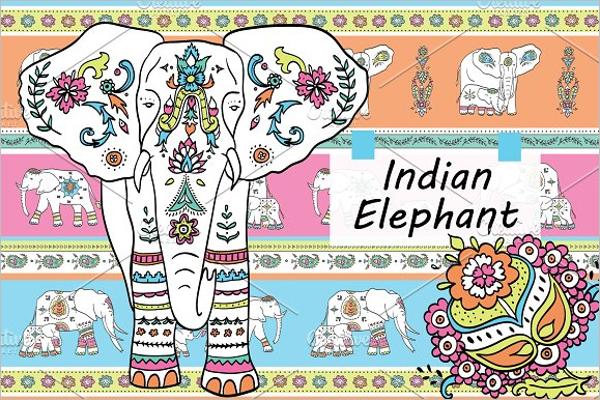 Indian Cartoon Elephant Template