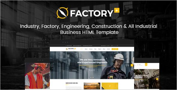 Industrial Portfolio HTML Template