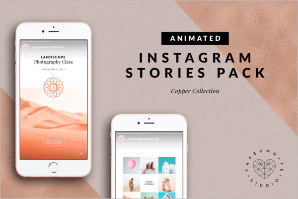 Instagram Copper Stories Template