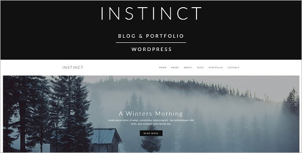 Instinct Blog & Portfolio Theme