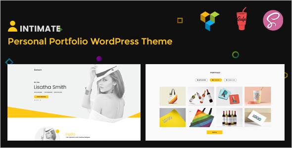 Intimate Portfolio WordPress Theme