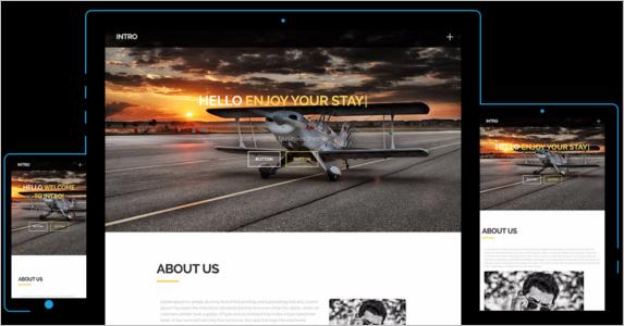 Intro Free Landing Page Theme