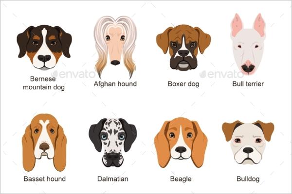 Isolate Dog Cartoon Design
