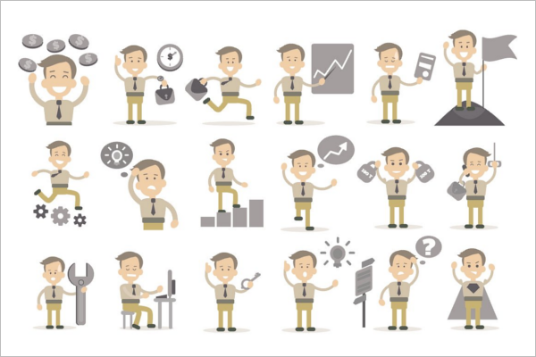 Isolated Businessman Characters
