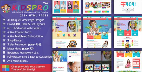 Kids Education HTML5 Template