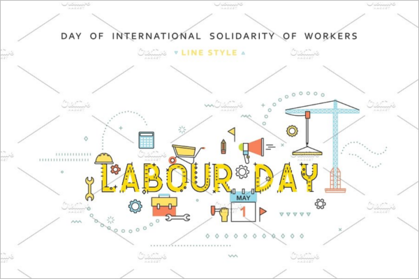 Labor Concept Banner Template