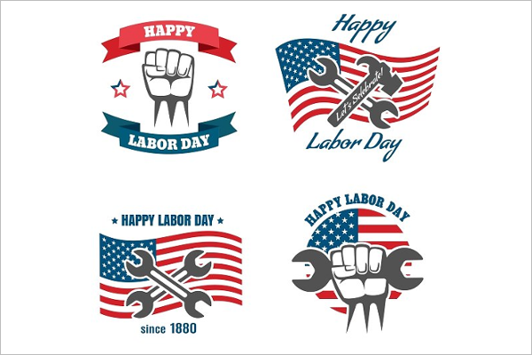 Labor Day Badge Banner Design