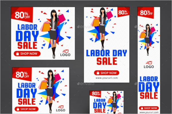 Labor Day Banner Ads Design