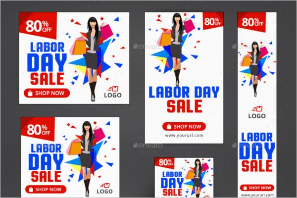 Labor Day Banner Ads Design