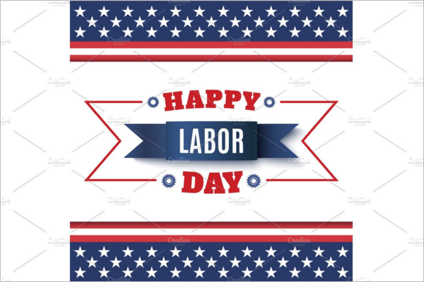 Labor Day Banner Background Design